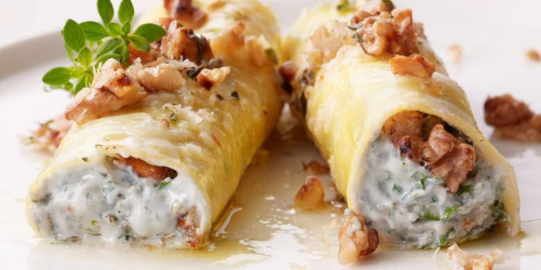 ricetta cannelloni con gorgonzola ricotta e noci