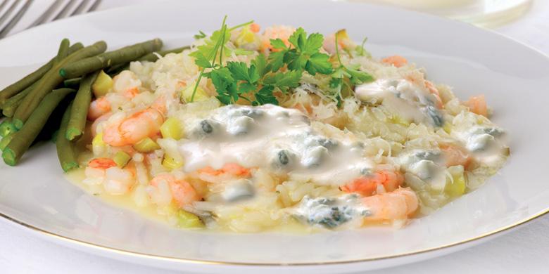 Gorgonzola-Krabben-Risotto