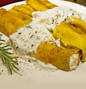 CANNELLONI STUFFED WITH GORGONZOLA