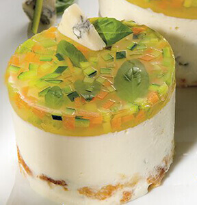 CHEESECAKE VEGETARIANO AL GORGONZOLA